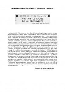 MASCLARY_diane Extrait 1937 Palais de la decouverte