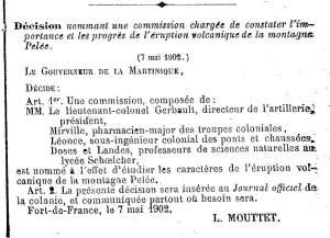 extrait journal officiel matinique 1902